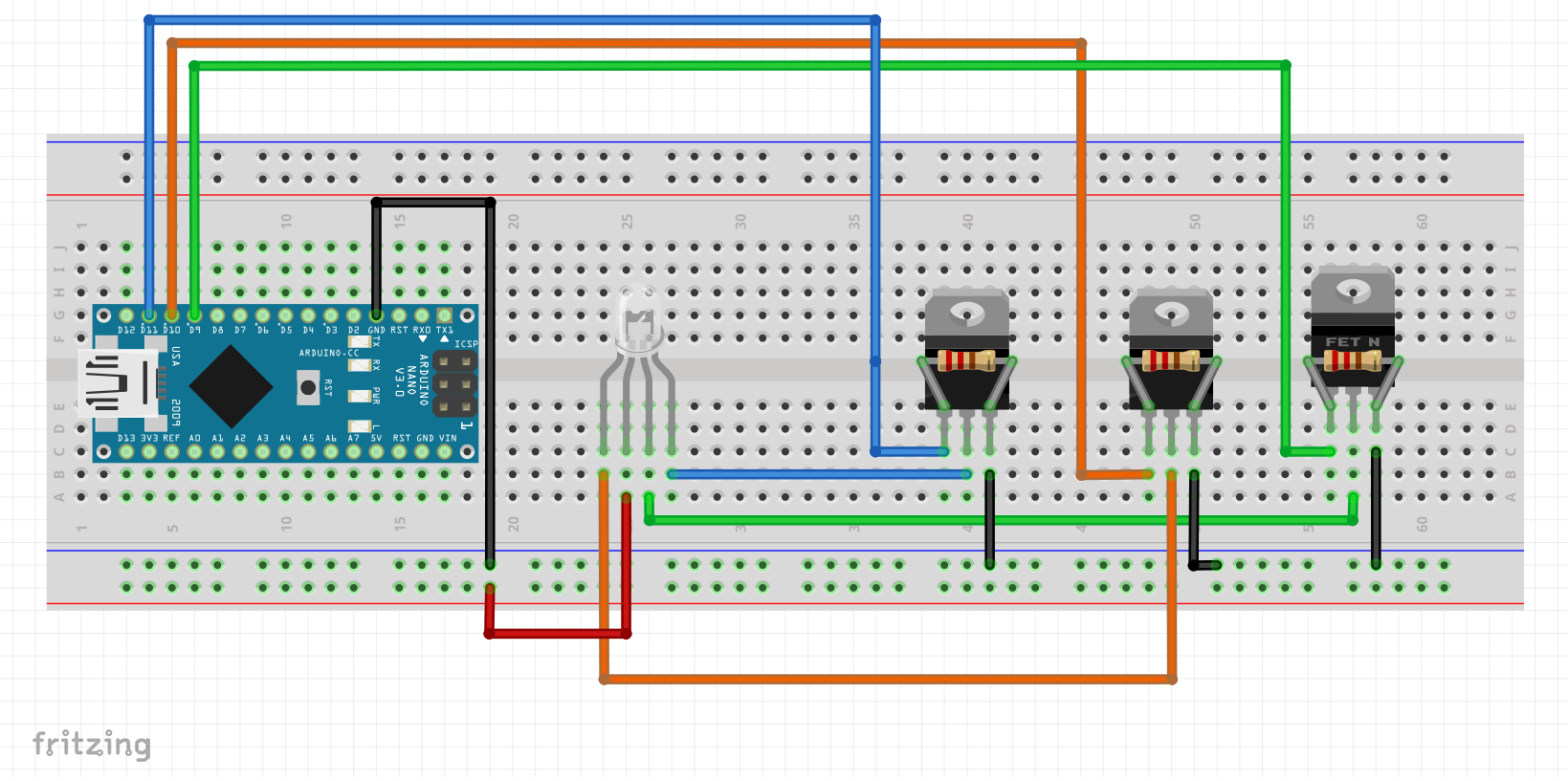 RGP_LED_Strip driving 3w leds with pwm on arduino? 120V LED Wiring Diagram at gsmx.co